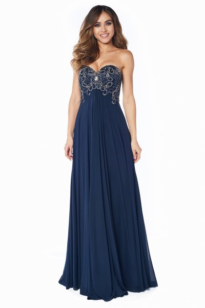 Вечернее платье 12056N (синий)