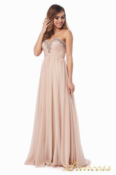 Вечернее платье 12063 (персиковый)