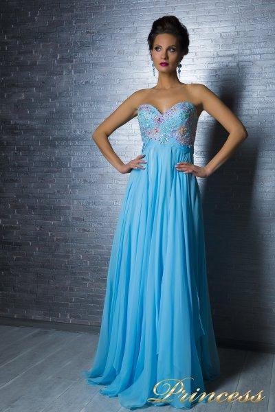 Вечернее платье 12070 (голубой)