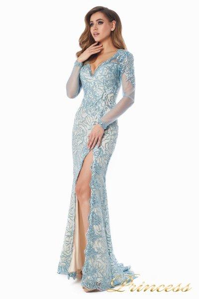Вечернее платье 12075 (голубой)