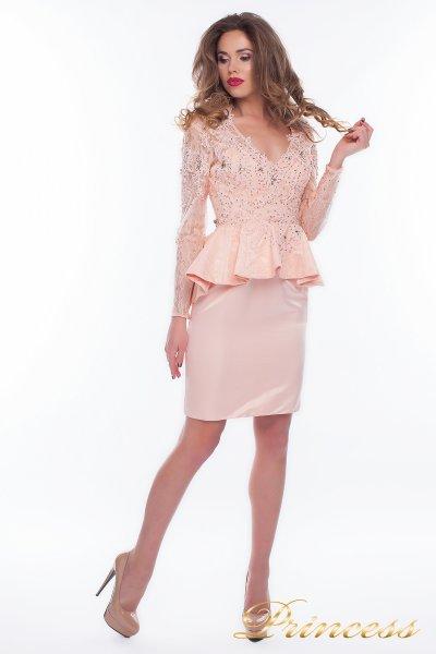 Коктейльное платье 12078 (розовый)