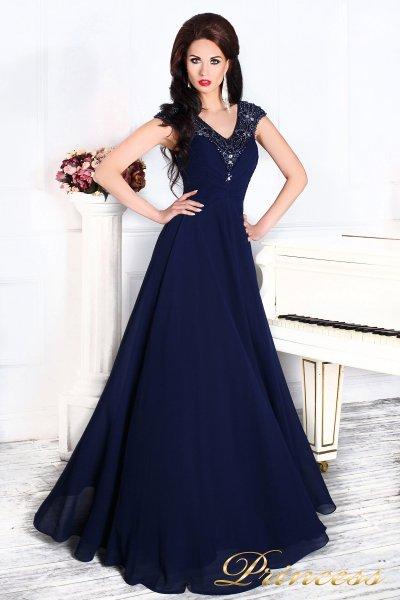 Вечернее платье 12085 (синий)