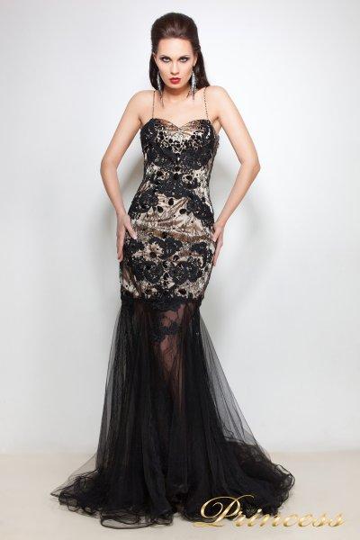 Вечернее платье 12101406 (чёрный)