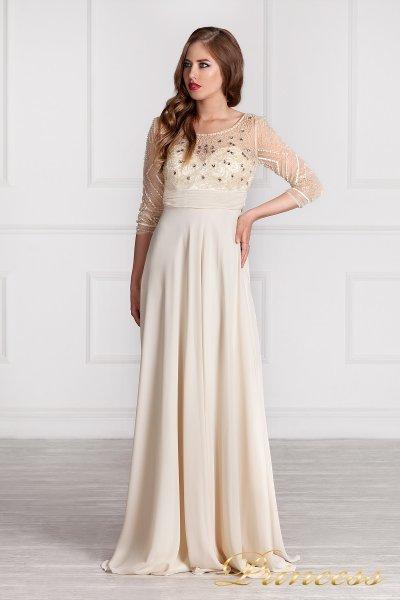 Вечернее платье 12102929 (кремовый)