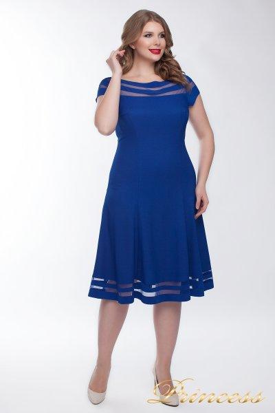 Коктейльное платье 1217 blue (электрик )