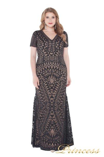 Вечернее платье 1236 black nude (чёрный)