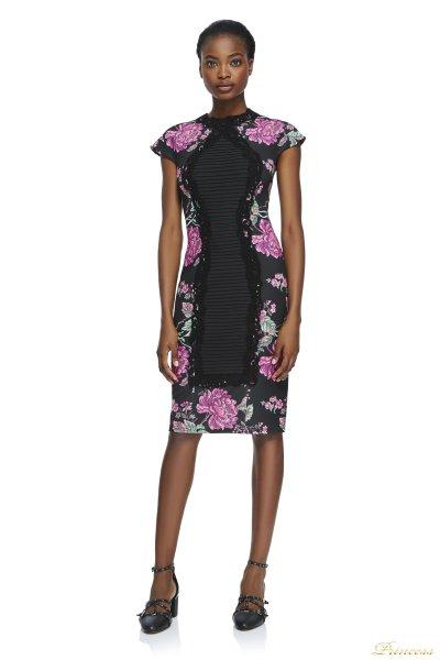 Вечернее платье Tadashi Shoji BAW1293M BLACK (фуксия)
