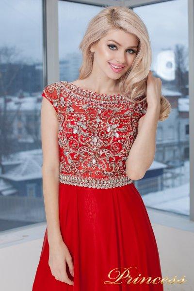 Вечернее платье 130016- ROYAL (красный)