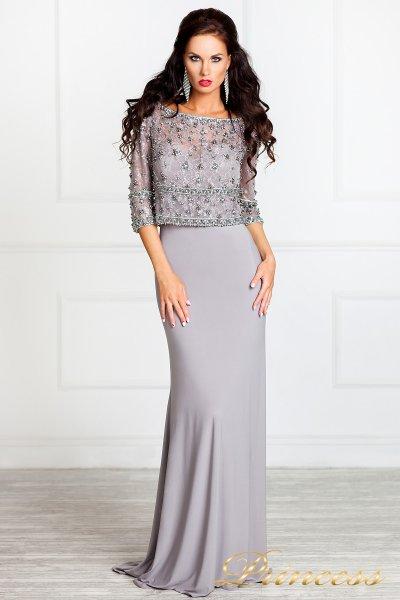 Вечернее платье 13044 (стальной)