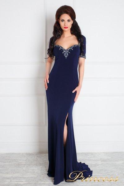 Вечернее платье 130610 (синий)