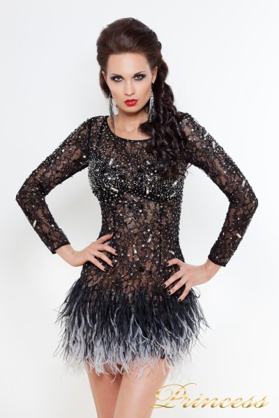 Коктейльное платье 1309 B (чёрный)