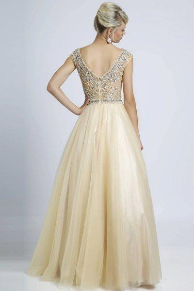 вечернее платье 131232 (бежевый)