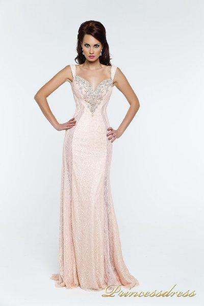 Вечернее платье 131388 (розовый)