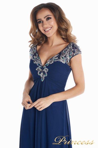 Вечернее платье № 131587N (синий)