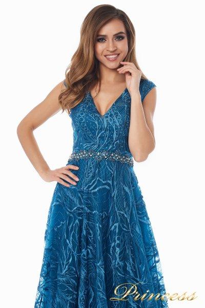 Вечернее платье 13176 teal (синий)