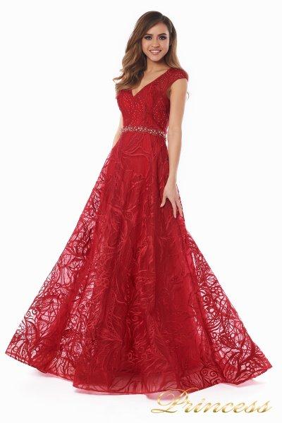 Вечернее платье 13176 wine  (красный)