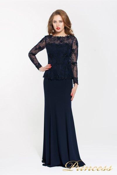 Вечернее платье 13526 NAVY (синий)