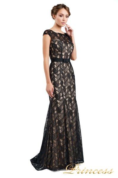 Вечернее платье 13710 black (чёрно-белый)