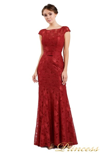 Вечернее платье 13710 wine (красный)