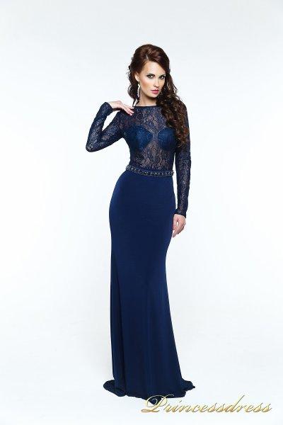 Вечернее платье 140034 (синий)