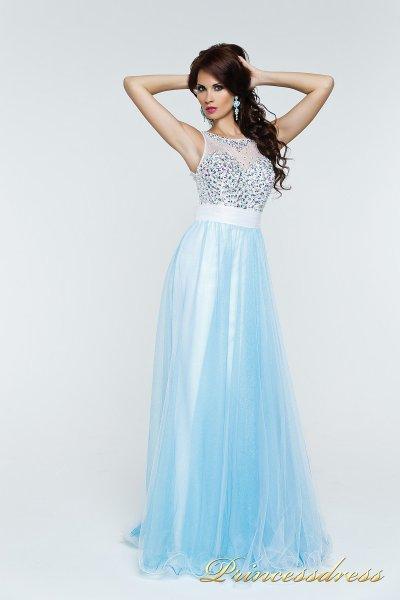 Вечернее платье 140070 (бирюзовый)