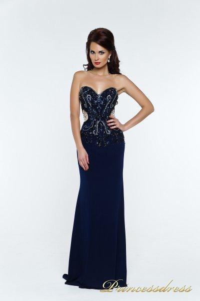 Вечернее платье 140369 (синий)