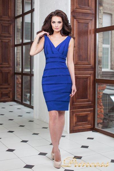 Коктейльное платье 14062 royal (электрик )