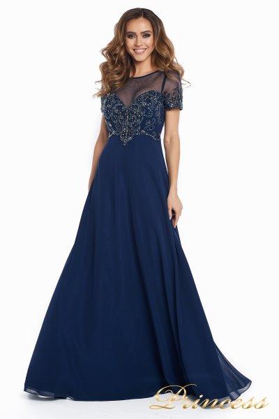 Вечернее платье 140715 (синий)