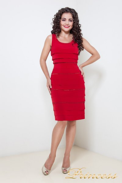 Вечернее платье 555 (красный)