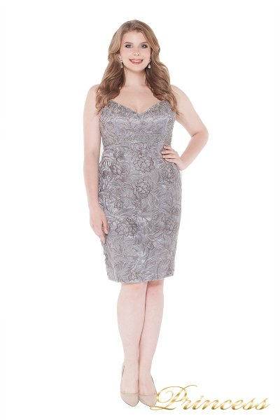 Коктейльное платье 15655 gray (серый)