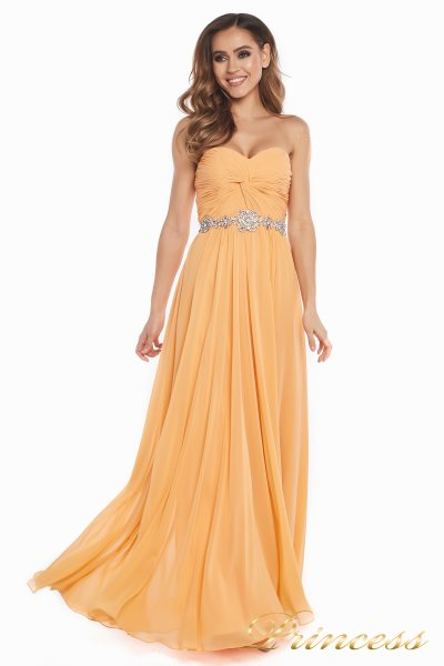 Вечернее платье 159764P (персиковый)