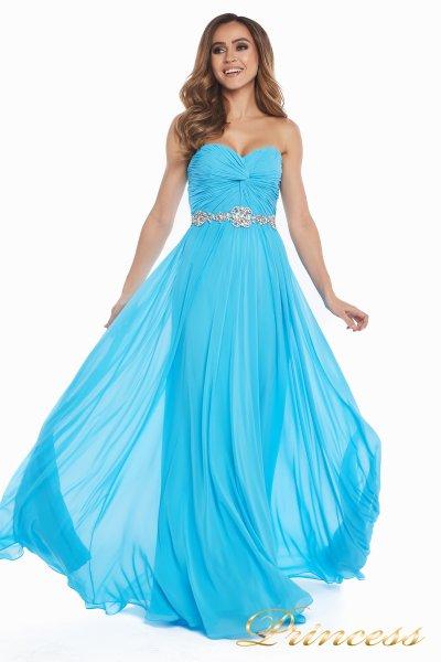 Вечернее платье 159764 agua blue (голубой)