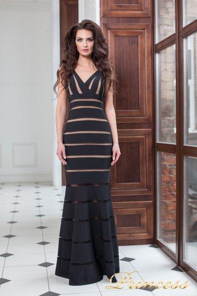 Вечернее платье 16003 black (чёрный)