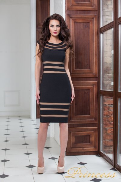 Коктейльное платье 16026 black (чёрный)