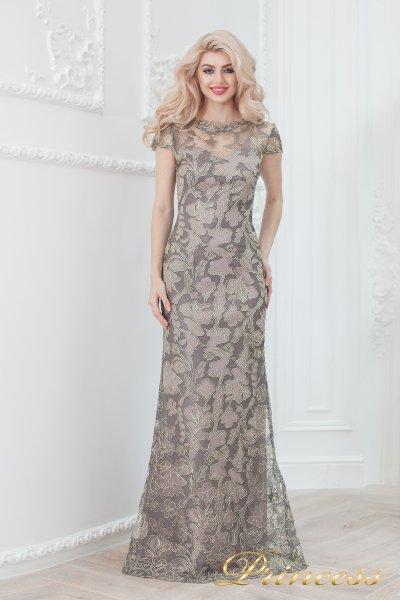 Вечернее платье 1628 grey (цветное )