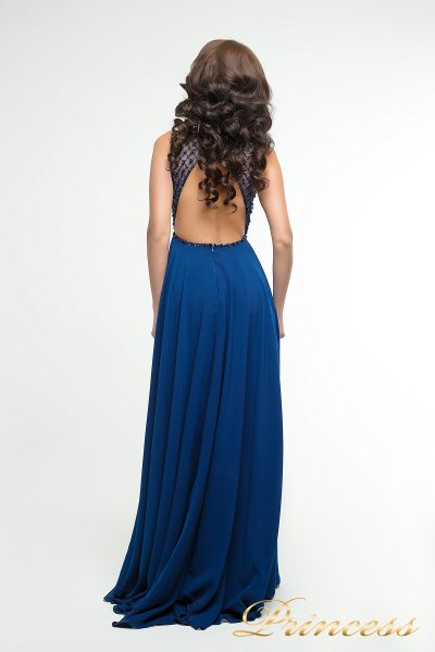 Вечернее платье 166N (синий)