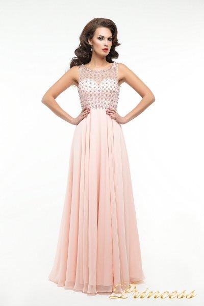Вечернее платье 166P (розовый)