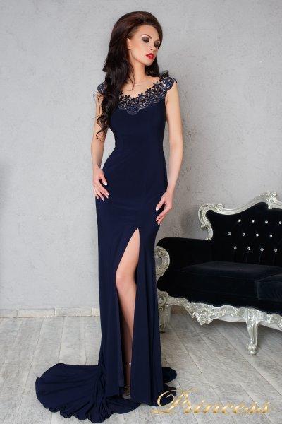 Вечернее платье 170 navy (синий)
