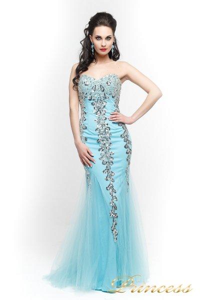 Вечернее платье 17438 (голубой)