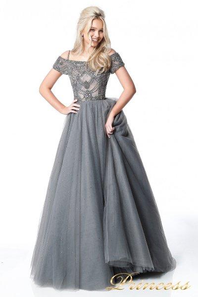 Вечернее платье 18105 (серый)