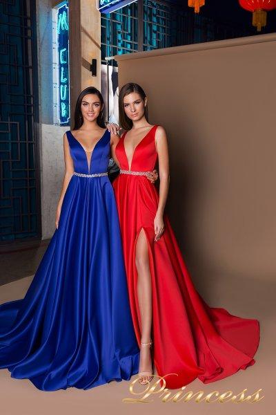 Вечернее платье 18111  (красный)