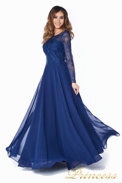 Вечернее платье 20245 (синий)