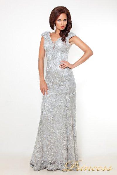 вечернее платье 12026 (стальной)