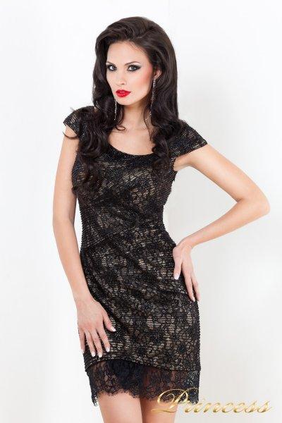 Коктейльное платье 212046 (чёрный)