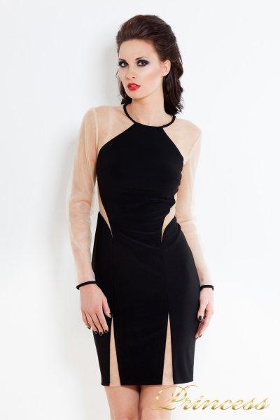 Коктейльное платье 213122 (чёрный)