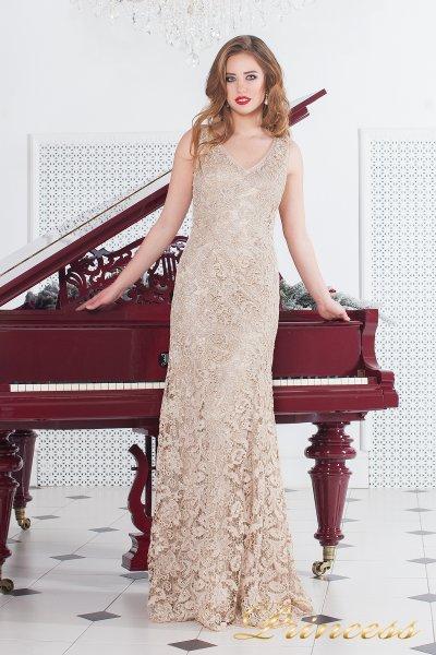 Вечернее платье 216014 (пудра)