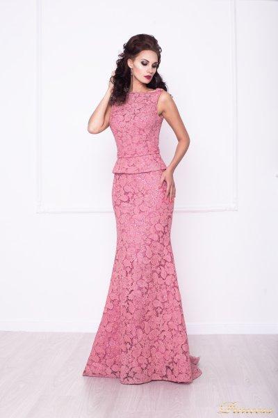 Вечернее платье 216015 (розовый)