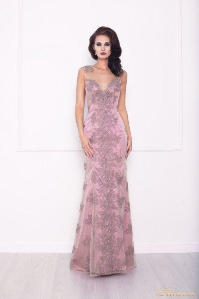 Вечернее платье 216021 (розовый)
