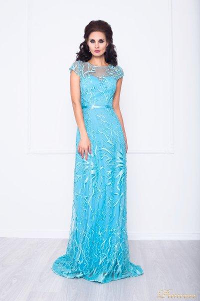Вечернее платье 216024 (голубой)