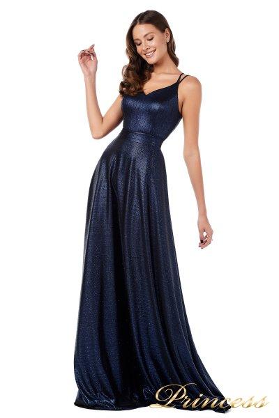 Вечернее платье 227633 N (синий)